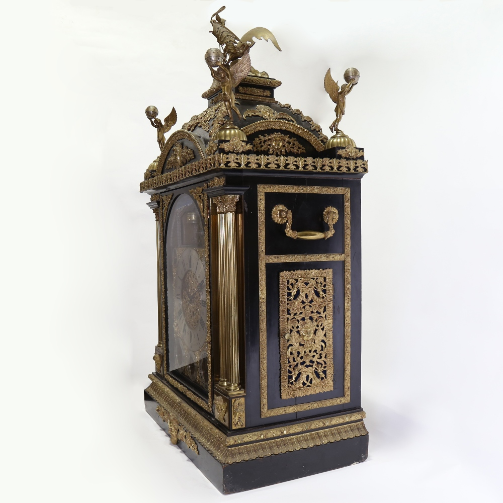 A spectacular 19th century quarter chiming English Exhibition table clock with automata, - Image 5 of 51