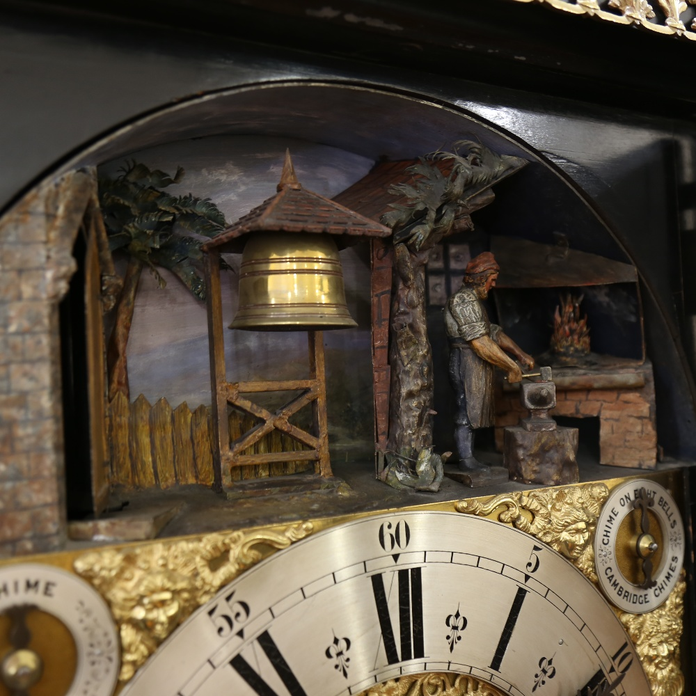 A spectacular 19th century quarter chiming English Exhibition table clock with automata, - Image 32 of 51