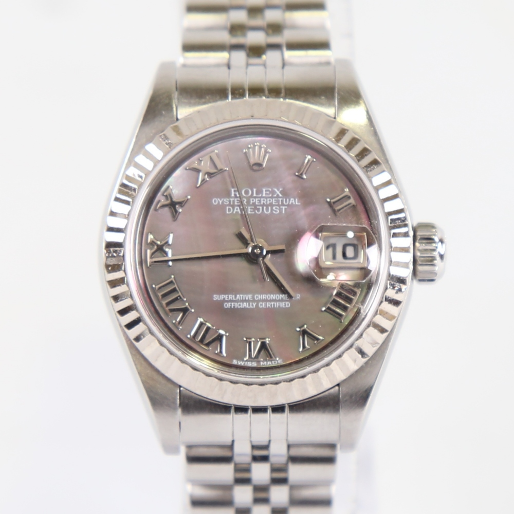 ROLEX - a lady's stainless steel Oyster Perpetual Datejust automatic wristwatch, ref. 79174, circa