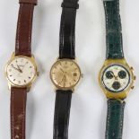 3 Vintage wristwatches, comprising Swatch, Ramona automatic, and Rotary automatic, both automatics