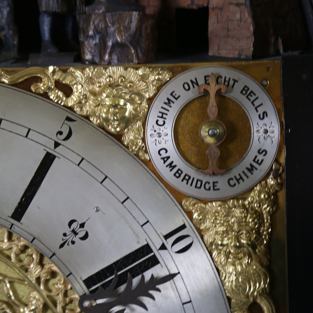 A spectacular 19th century quarter chiming English Exhibition table clock with automata, - Image 18 of 51
