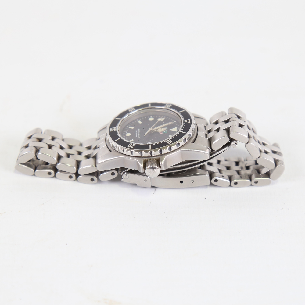 TAG HEUER - a lady's stainless steel 1500 Series Professional 200m quartz wristwatch, ref. WD1410- - Image 4 of 5