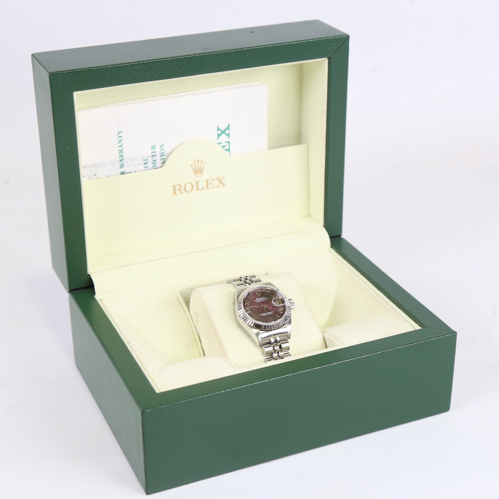 ROLEX - a lady's stainless steel Oyster Perpetual Datejust automatic wristwatch, ref. 79174, circa - Image 5 of 5