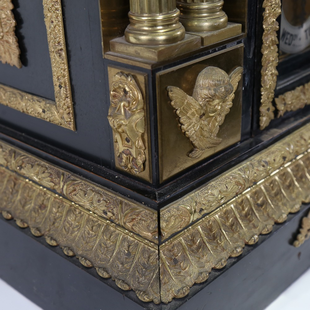 A spectacular 19th century quarter chiming English Exhibition table clock with automata, - Image 33 of 51