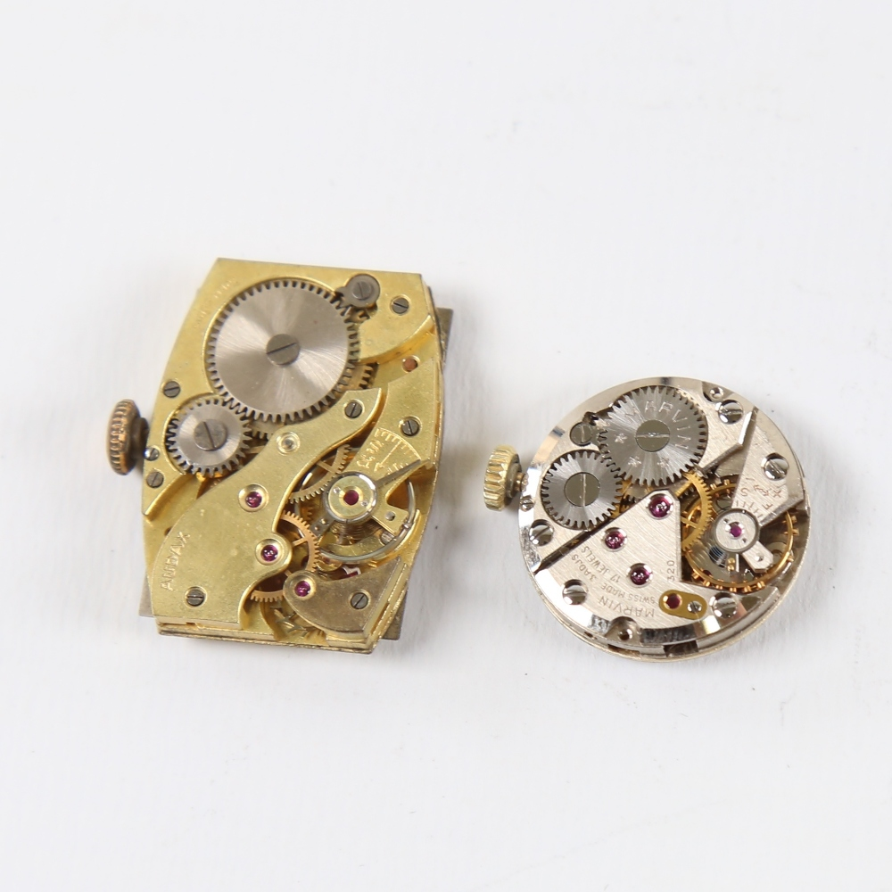 2 Vintage wristwatch movements, including Marvin and Audax, Audax working (2) Marvin in good overall - Image 2 of 5