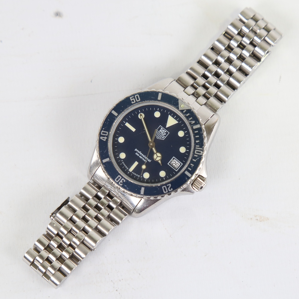 TAG HEUER - a stainless steel Professional 1000 Diver 200M quartz wristwatch, ref. 980.613B, blue - Image 2 of 5
