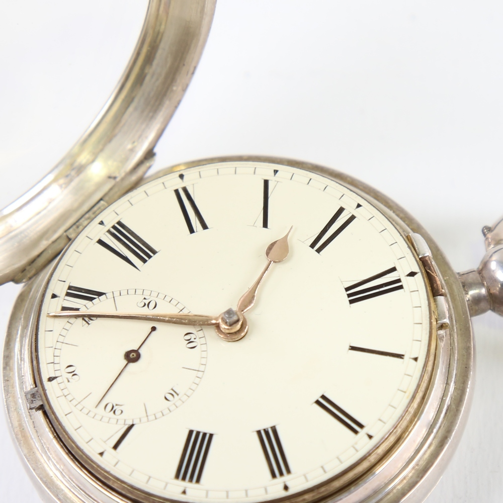 A 19th century silver-cased open-face keywind Marine Chronometer deck pocket watch, by Frodsham of - Image 4 of 12