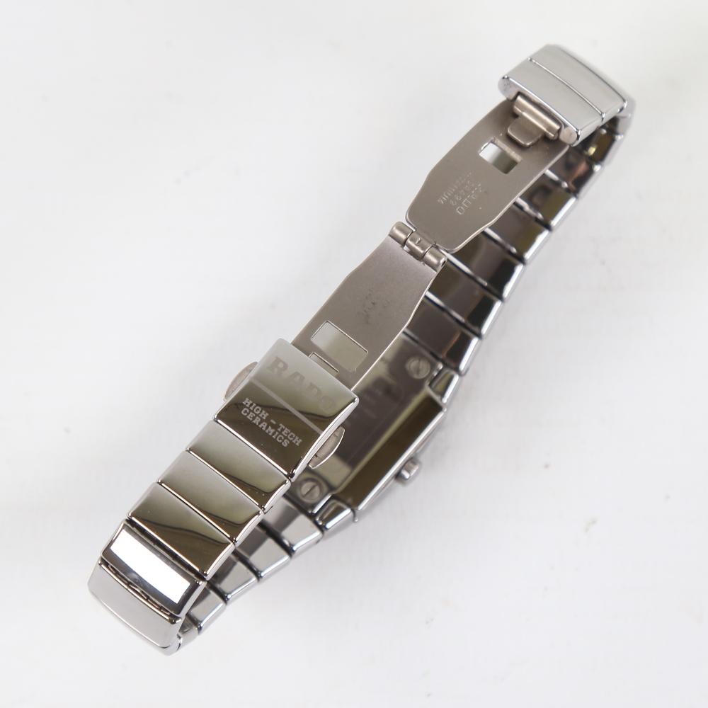 RADO - a lady's ceramic DiaStar quartz wristwatch, ref. 318.0722.3, silvered dial with blued steel - Image 3 of 5
