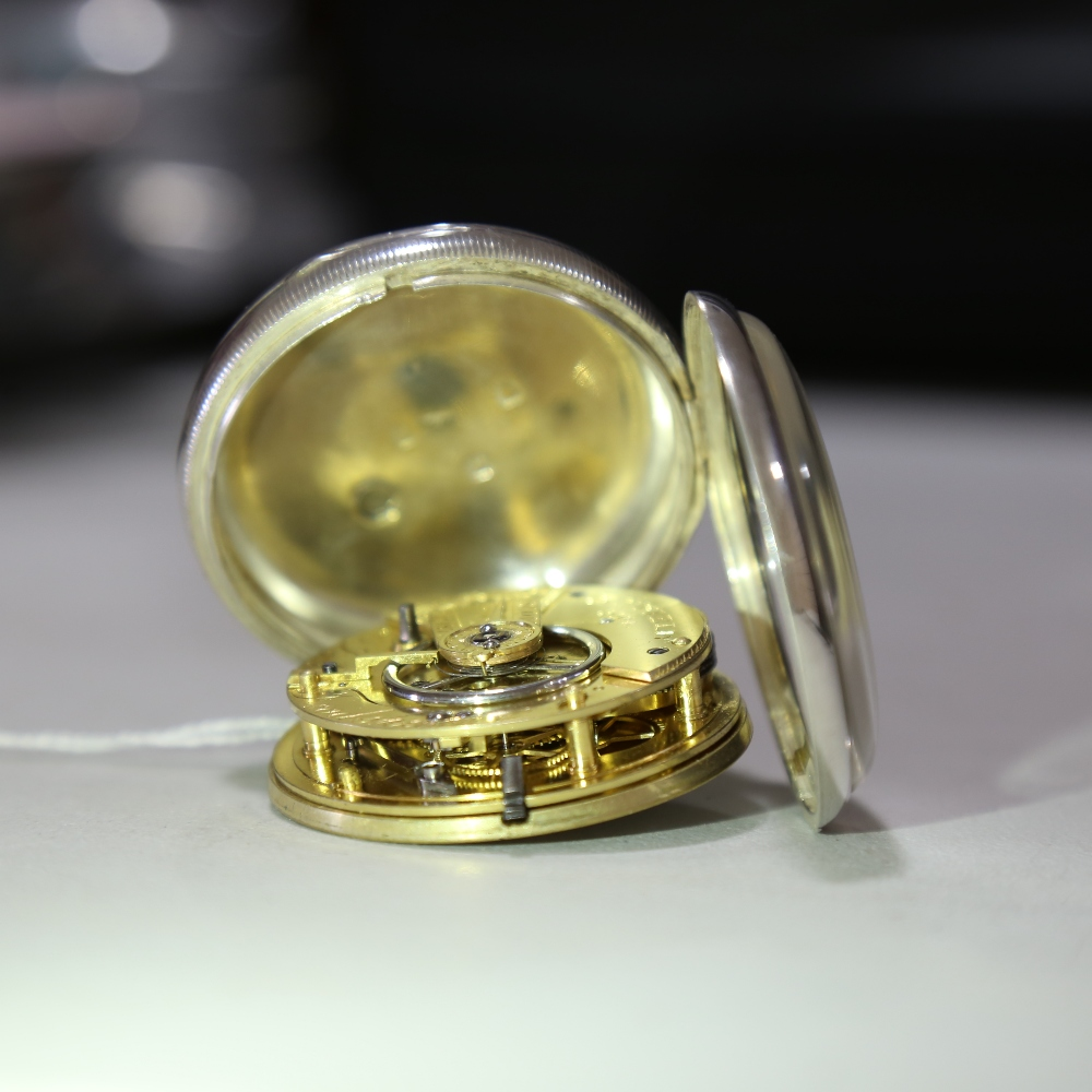 A 19th century silver-cased open-face keywind Marine Chronometer deck pocket watch, by John Frodsham - Image 9 of 14