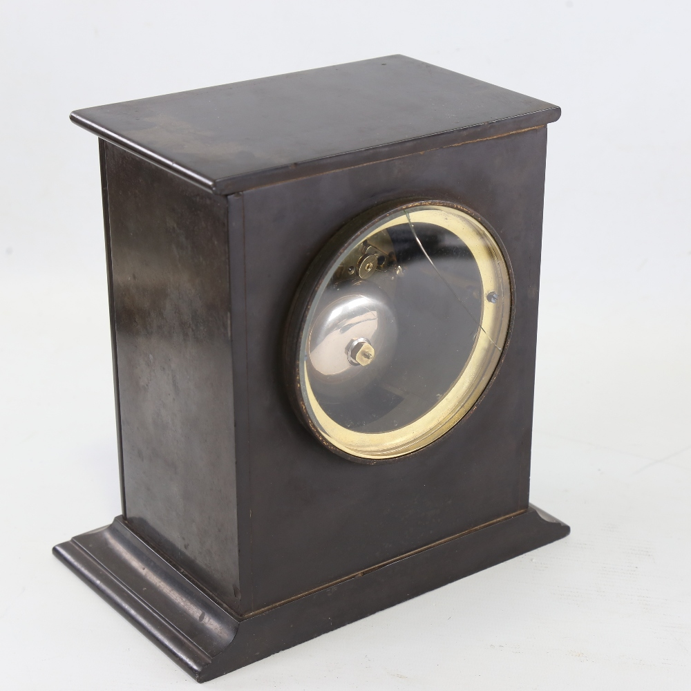 A 19th century French slate-cased 8-day mantel clock, by A Brocot & Delettrez of Rue Charlot N62 - Image 3 of 5