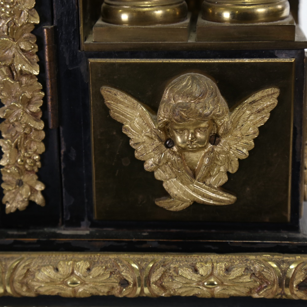 A spectacular 19th century quarter chiming English Exhibition table clock with automata, - Image 29 of 51