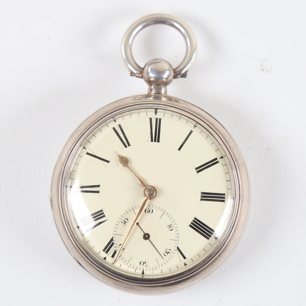 A 19th century silver-cased open-face keywind Marine Chronometer deck pocket watch, by Frodsham of