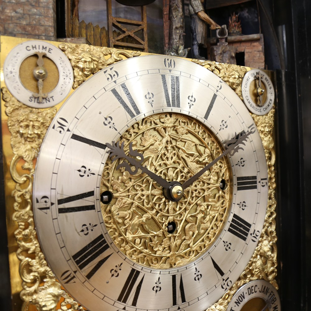 A spectacular 19th century quarter chiming English Exhibition table clock with automata, - Image 30 of 51
