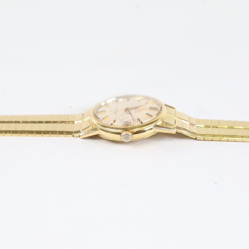 OMEGA - a Vintage 18ct gold Constellation Calendar automatic chronometer wristwatch, ref. 886, circa - Image 4 of 5