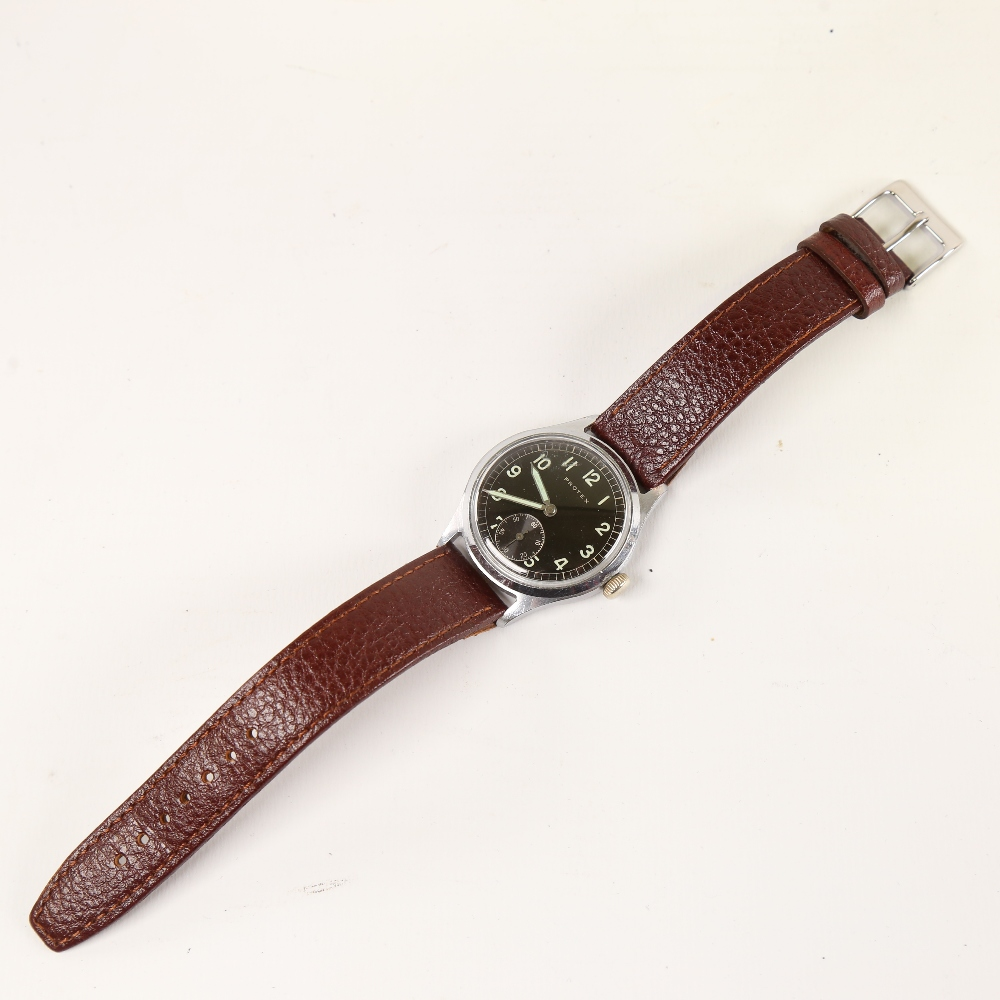 PROTEX - a Second World War Period stainless steel German Army mechanical wristwatch, ref. 497, - Image 2 of 5
