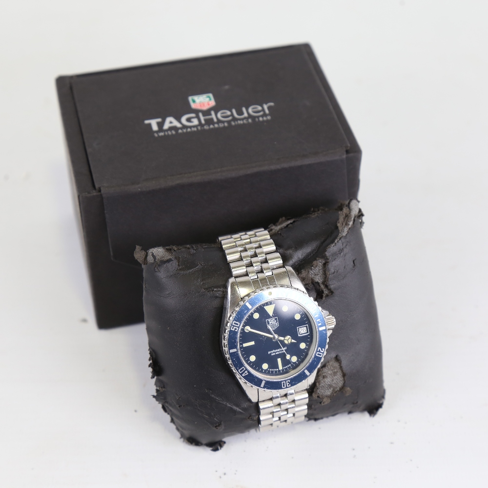 TAG HEUER - a stainless steel Professional 1000 Diver 200M quartz wristwatch, ref. 980.613B, blue - Image 5 of 5