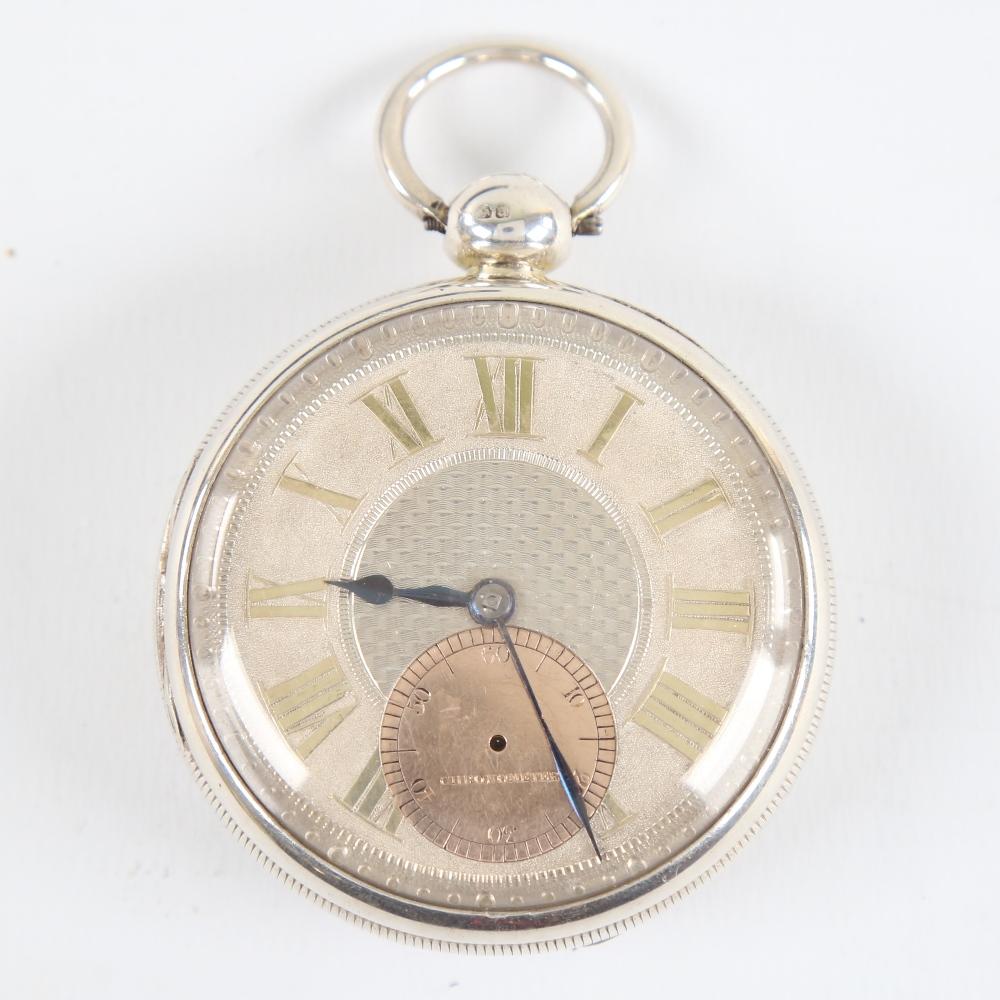 A 19th century silver-cased open-face keywind Marine Chronometer deck pocket watch, by John Frodsham