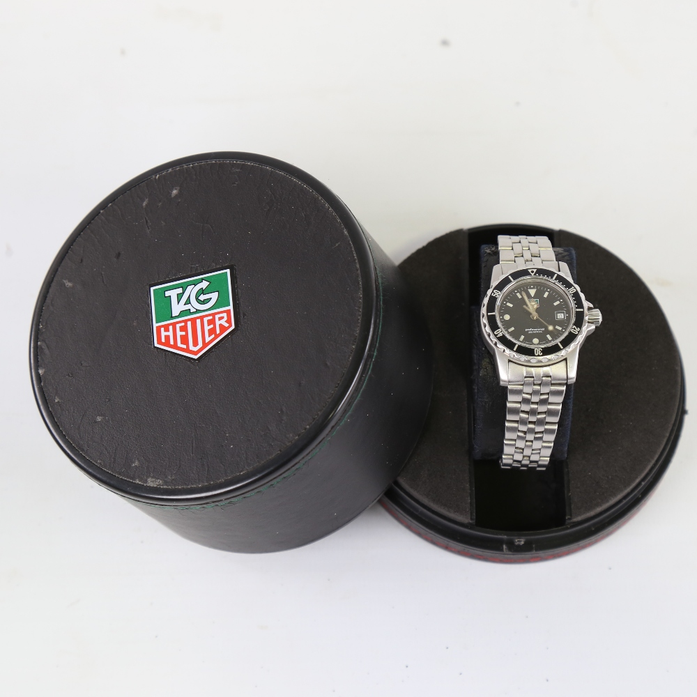 TAG HEUER - a lady's stainless steel 1500 Series Professional 200m quartz wristwatch, ref. WD1410- - Image 5 of 5