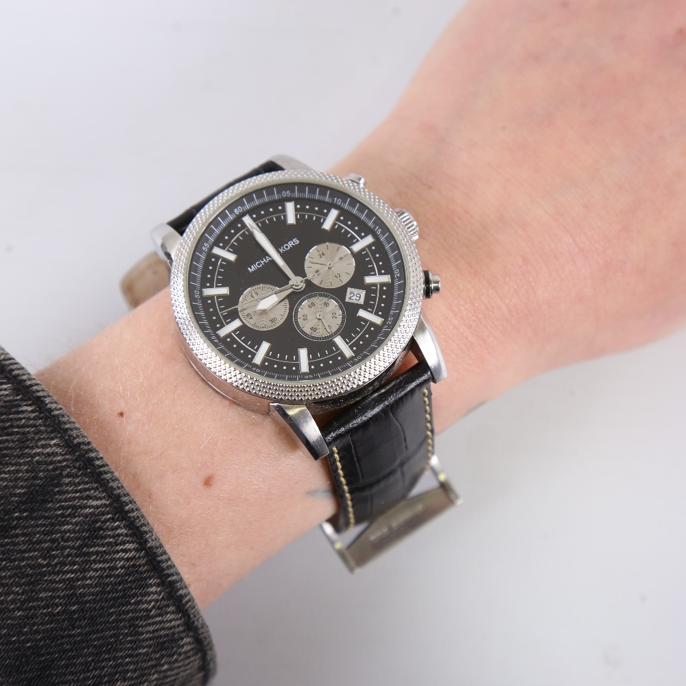 5 modern designer quartz wristwatches, including GC, Michael Kors, Guess and Emporio Armani, only - Image 5 of 5