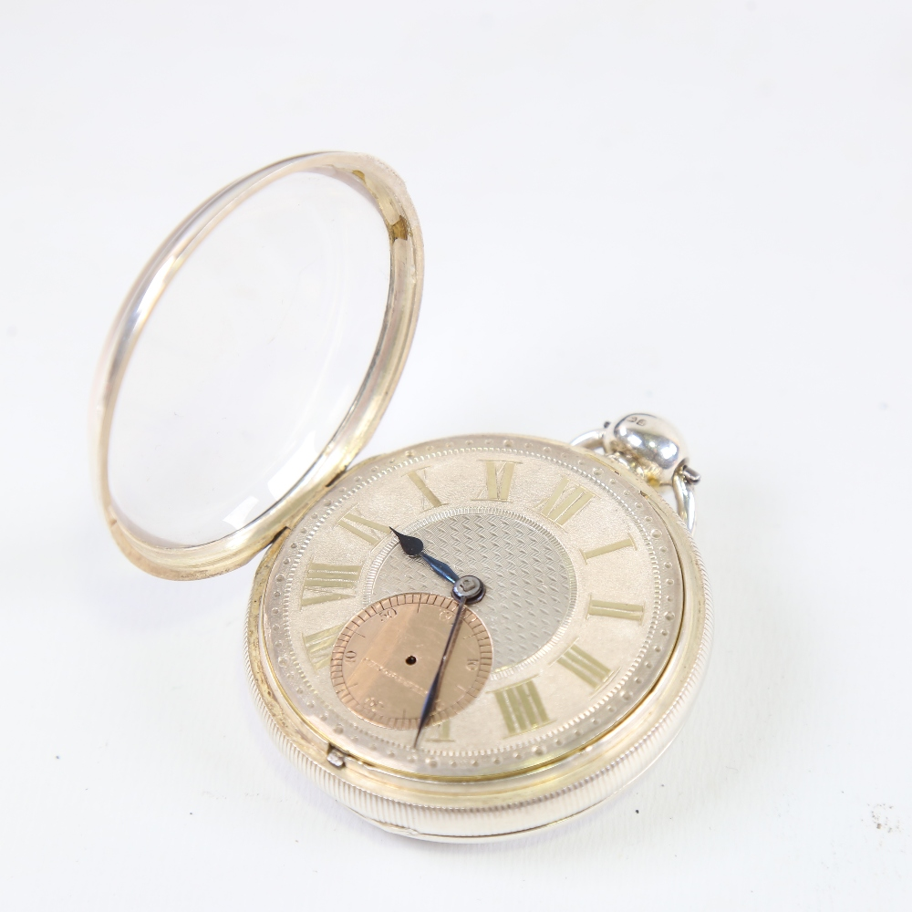 A 19th century silver-cased open-face keywind Marine Chronometer deck pocket watch, by John Frodsham - Image 3 of 14