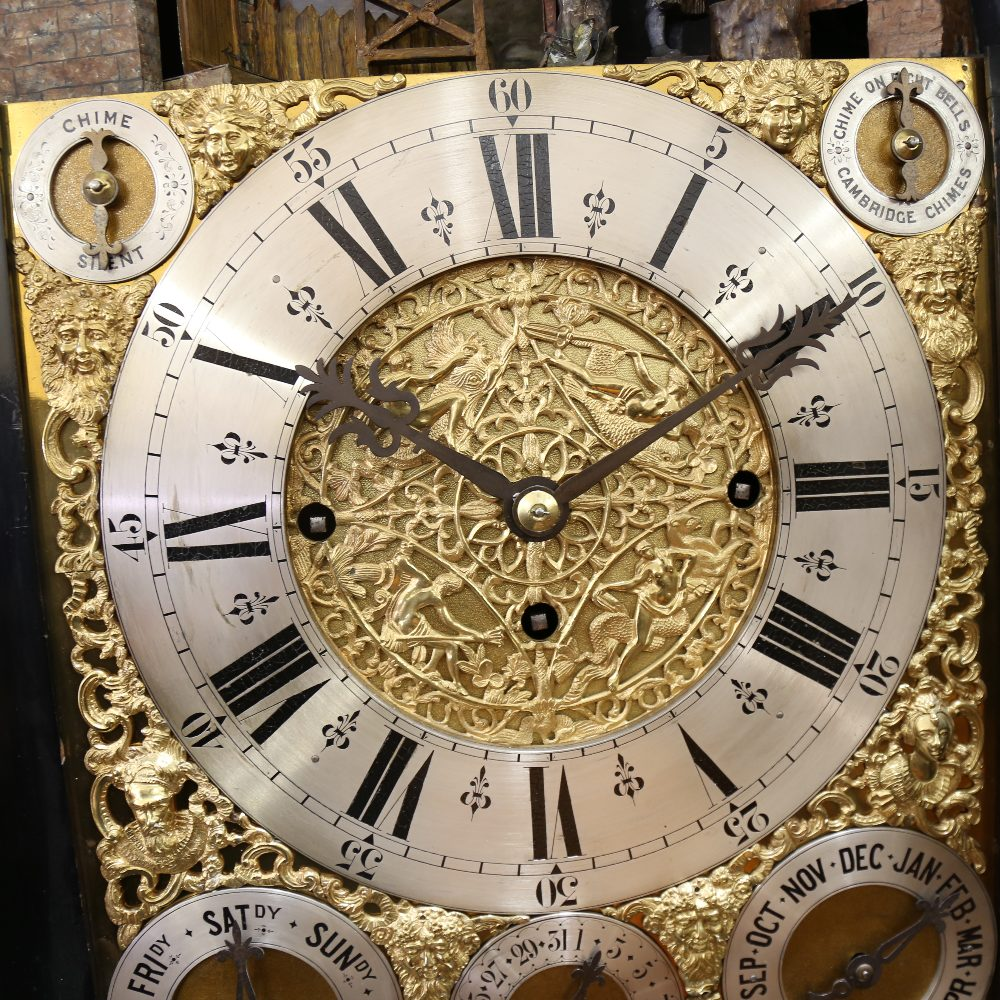 A spectacular 19th century quarter chiming English Exhibition table clock with automata, - Image 38 of 51