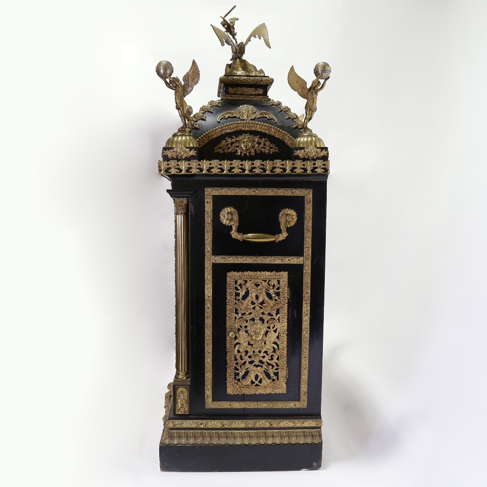 A spectacular 19th century quarter chiming English Exhibition table clock with automata, - Image 6 of 51