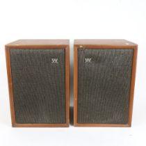WHARFEDALE - a Vintage pair of loud speakers, height 36cm