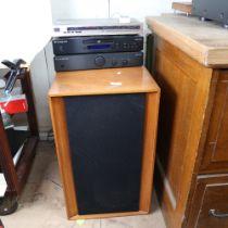 Various Hi-Fi sound equipment, comprising pair of KEF Concerto floor standing loud speakers,