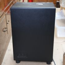 REL - a large floor standing Storm 100 watt Mos-fet Sub-bass system, with original instructions