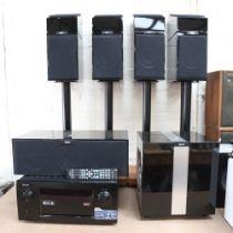 KEF - an extensive home entertainment sound speaker Hi-Fi system, comprising 1 x R400b subwoofer,