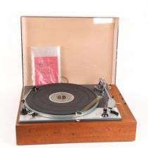 LENCO - a Vintage Goldring GL75 stereo transcript turntable, with original instruction manual