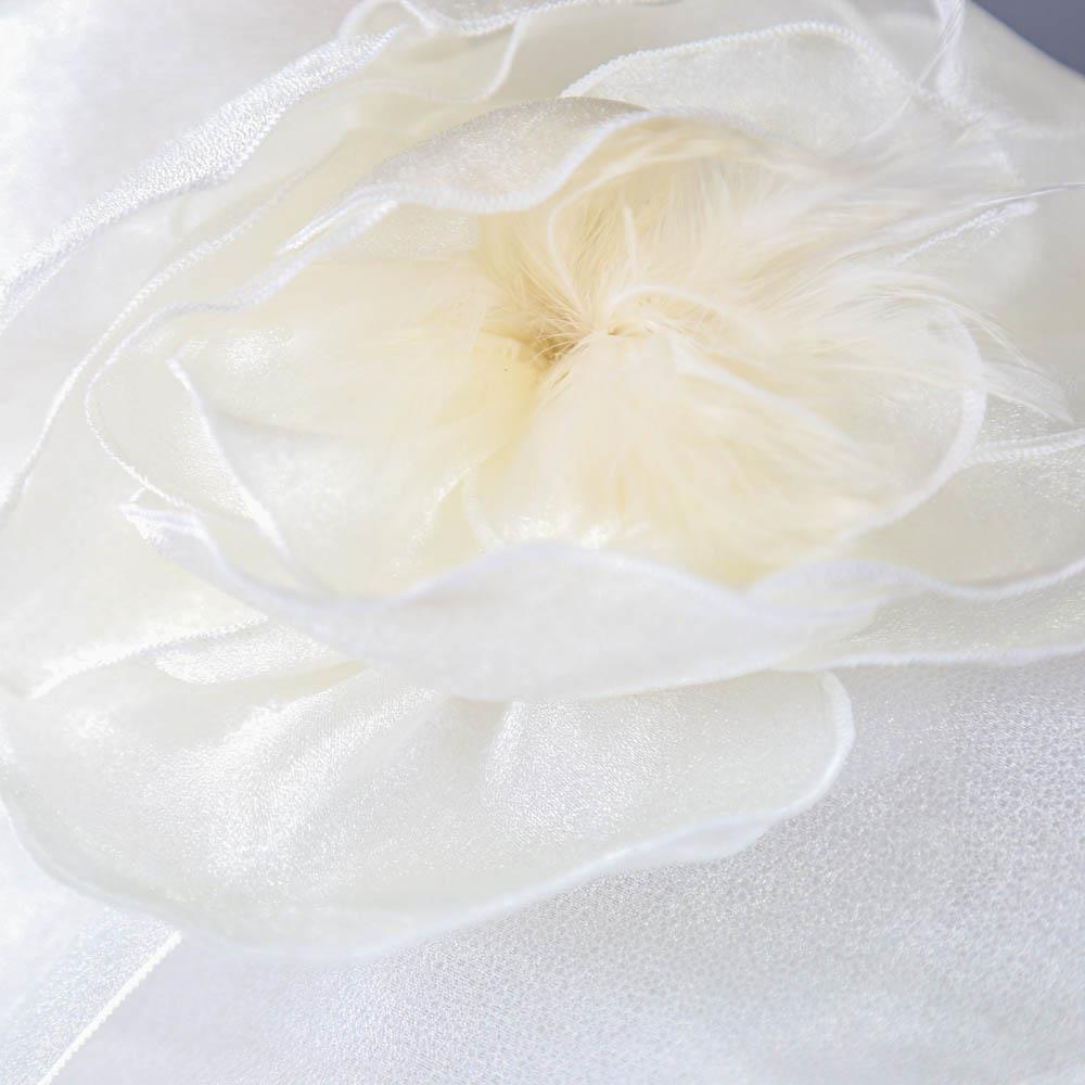 SUZANNE BENTTLEY LONDON - Light ivory organza occasion hat, with flower detail, internal - Image 4 of 7