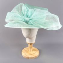 HATMOSPHERE COLLECTION - Spearmint green occasion hat, with bow detail, internal circumference 55cm,