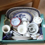Various ceramics, including meat plates, Aynsley Cottage Garden pattern china etc (boxful)