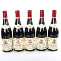 5 bottles of Burgundy wine, 1999 Domaine Louis Remy Latricieres-Chambertin Grand Cru