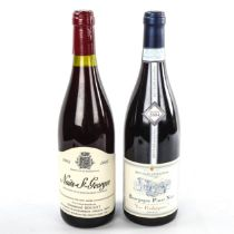 """2 bottles of Burgundy wine, 2002 Nuits-St-Georges, Emmanuel Rouget and 2004 Pinot Noir """"Les"""