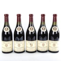 5 bottles of 1988 Chateau Corton Grancy Grand Cru Domaine Louis Latour