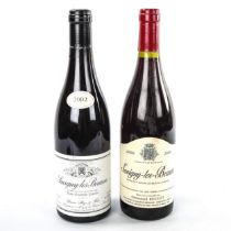 """2 bottles of Savigny-les-Beaune, 2002 """"Aux Grands Liards"""" Simon Bize & sons, 2000 Emmanuel Rouget"""