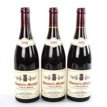 3 bottles of 2001 Chambolle-Musigny 1er Cru Les Veroilles domaine Ghislaine Barthod