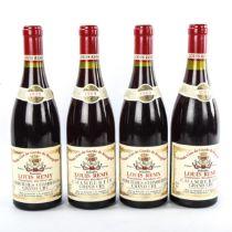 4 bottles of Burgundy wine, 1989 Domaine Louis Remy Chambertin Grand Cru.