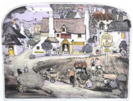 Graham Clarke, coloured etching, First and Last, signed in pencil, no. 94/400, image 26cm x 34cm,