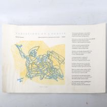Stanley Hayter (1901 - 1988), limited edition lithograph on handmade paper, Variations On A