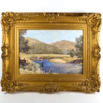 George Houston RSA RI RSW (Scottish 1869 - 1947), watercolour, Glen Goil, signed, 34cm x 50cm,
