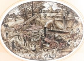 David Hobbs (born 1947), watercolour/ink, farm scene, signed and dated 1978, 35cm x 47cm, framed
