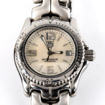 TAG HEUER - a lady's stainless steel Professional 200M quartz bracelet watch, ref. WT141A, mother-