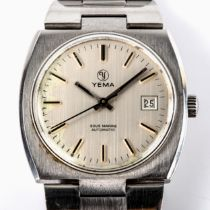 YEMA - a Vintage stainless steel Sous Marine automatic bracelet watch, ref. 55.18.52, silvered