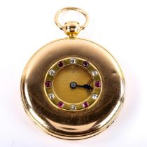 BREGUET - a fine and rare half hunter key-wind repeater pocket watch, engine turned dial with