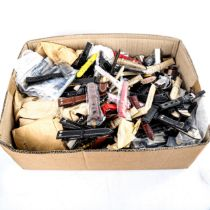A large quantity of various wristwatch straps and bracelets, mostly leather and brand new (large