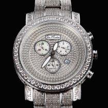 JOE RODEO - an oversized stainless steel Victory quartz chronograph bracelet watch, ref. JV17,
