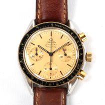 OMEGA - a bi-metal Speedmaster Reduced automatic chronograph wristwatch, ref. 175.0032, circa